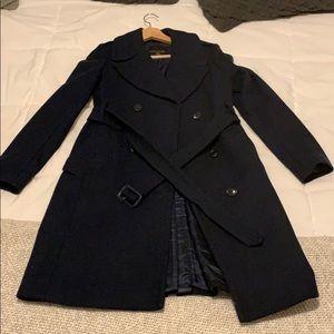 Banana Republic dark Navy Pea coat brand new